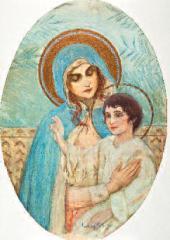 Михаил НЕСТЕРОВ. Богоматерь с младенцем. 1900