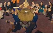 Павел ЩЕРБОВ. «Апофеоз Зевксиса» (Вознесение А.И. Куинджи на небо). Около 1897