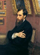 И.Е. РЕПИН. Портрет П.М. Третьякова. 1883