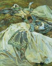 ДЖОН СИНГЕР САРДЖЕНТ. ДВЕ ДЕВОЧКИ В БЕЛЫХ ПЛАТЬЯХ. 1899