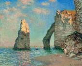 Клод МОНЕ. Скалы в Этрета. 1885