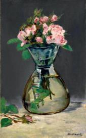 Эдуард МАНЕ. Розы в вазе. 1882