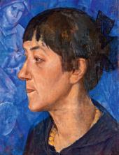 Кузьма ПЕТРОВ-ВОДКИН. Портрет жены художника. 1921