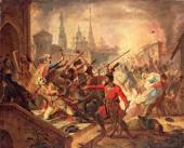 Взятие Казани Пугачевым. 1847