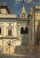 В.Д. ПОЛЕНОВ. ТЕРЕМНОЙ ДВОРЕЦ. НАРУЖНЫЙ ВИД. 1877