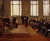 жон ЛАВЕРИ. Открытие крыла лорда Дувина в Национальной портретной галерее. 1933
