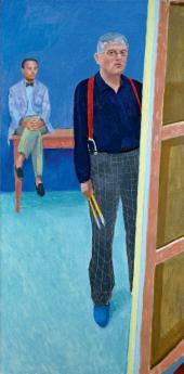 Дэвид ХОКНИ. Автопортрет с Чарли. 2005