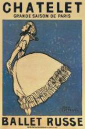 Ж. КОКТО. АФИША «РУССКОГО БАЛЕТА». 1911