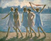 Н.М. ЧЕРНЫШЕВ. Возвращение с купанья. 1928