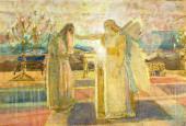 А.А. ИВАНОВ. Архангел Гавриил поражает Захарию немотой. Конец 1840-х–1850-е