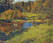 А.П. ГОРСКИЙ. Осень. 1955–1981. Левая часть триптиха «Дыхание осени»
