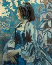 В.Э. БОРИСОВ-МУСАТОВ. Портрет дамы в голубом платье. 1902