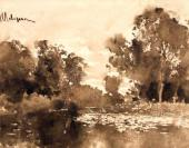 И.И. ЛЕВИТАН. Заросший пруд Вторая половина. 1880-х