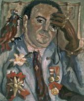 КАРЛО ЛЕВИ. ПОРТРЕТ ФИЛИППО ДЕ ПИСИСА С ПОПУГАЕМ. 1933