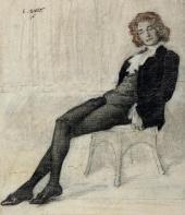 Л.С. БАКСТ. Портрет З.Н. Гиппиус. 1906
