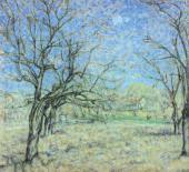 М.Ф. ЛАРИОНОВ. Сад весной. 1900-е