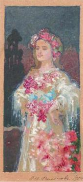 ЖЕНЩИНА С ЦВЕТАМИ. 1905