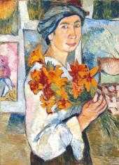 Автопортрет с желтыми лилиями. 1907