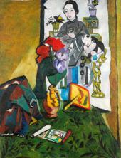 Н.С. Гончарова. Китайский натюрморт. Ок. 1910