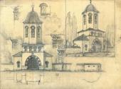 А.В. Щусев. Рабочий проект колокольни храма Св. Троицы в Кугурештах
