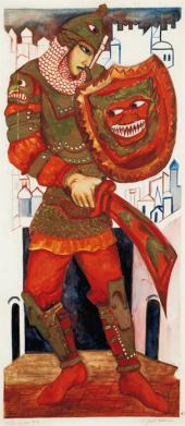 Н.С. Гончарова. Гвидон. Эскиз по мотивам спектакля «Золотой петушок». 1920-е