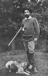 И.И. Левитан с собакой Вестой. 1890-е