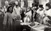 Отпевание П.Д. Корина в Успенском храме Новодевичьего монастыря. 26 ноября 1967