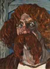 Портрет Ф.И. Шаляпина в роли Фарлафа в опере М.И. Глинки «Руслан и Людмила».1907