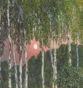 Березы ночью. 1908–1910