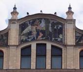 Поклонение природе. Декоративное панно фасада гостиницы «Метрополь» (1898–1905)