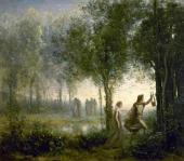 Камиль Коро. Орфей, ведущий Эвридику из царства теней. 1861