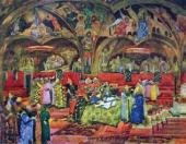 К.Ф. Юон. Грановитая палата Эскиз декорации к опере М.П. Мусоргского