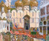 Площадь в Кремле Эскиз декорации к опере М.П. Мусоргского «Борис Годунов»