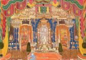 Маскарадный зал. эскиз декорации к спектаклю по драме М.Ю. Лермонтова «Маскарад»