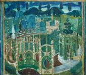 Сад (2-й ракурс). Картина XI. Эскиз декорации для постановки комедии П.-О. Бомар
