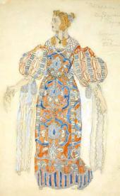 Дездемона. Эскиз костюма для постановки трагедии У. Шекспира «Отелло»