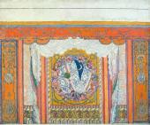 Эскиз занавеса для постановки оперы П.И. Чайковского «Евгений Онегин»