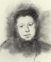 И.С. Остроухов. Портрет Е.Д. Поленовой. 1884