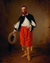 Портрет М.П. Бибикова в маскарадном костюме XVII века. 1843
