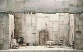 Э.С. Кочергин. Макет декорации к пьесе С. Караса «Борцы». 1974