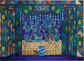 Б.А. Мессерер. Эскиз декорации к балету Р.К. Щедрина «Конек-Горбунок». 1999