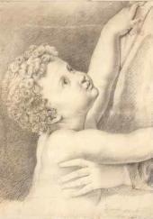 М.Ю. Лермонтов. Младенец, тянущийся к матери. 1829