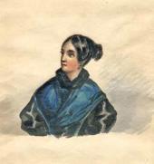 М.Ю. Лермонтов. Портрет В.А. Лопухиной. 1835–1838 (?)