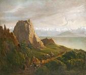 М.Ю. Лермонтов. Кавказский вид с верблюдами. 1837–1838