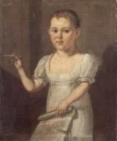 Неизвестный художник. Лермонтов-ребенок. 1810-е