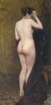 И.Е. Репин. Обнаженная натурщица. Середина 1890-х