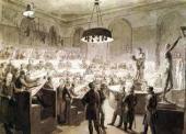 А.Г. Венецианов. Натурный класс в Академии художеств. Ок. 1824