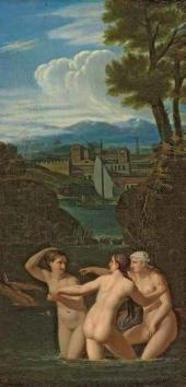 А.Е. Егоров. Купающиеся нимфы. Начало 1810-х
