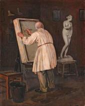 М.В. Нестеров. Старый художник. 1884