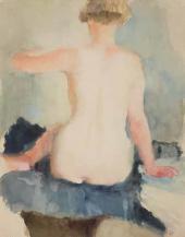 В.В. Лебедев. Натурщица со спины. 1929